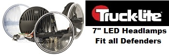 "Truck Lite - 7"" Round LED Headlamp, Complex Reflector Optics Design"