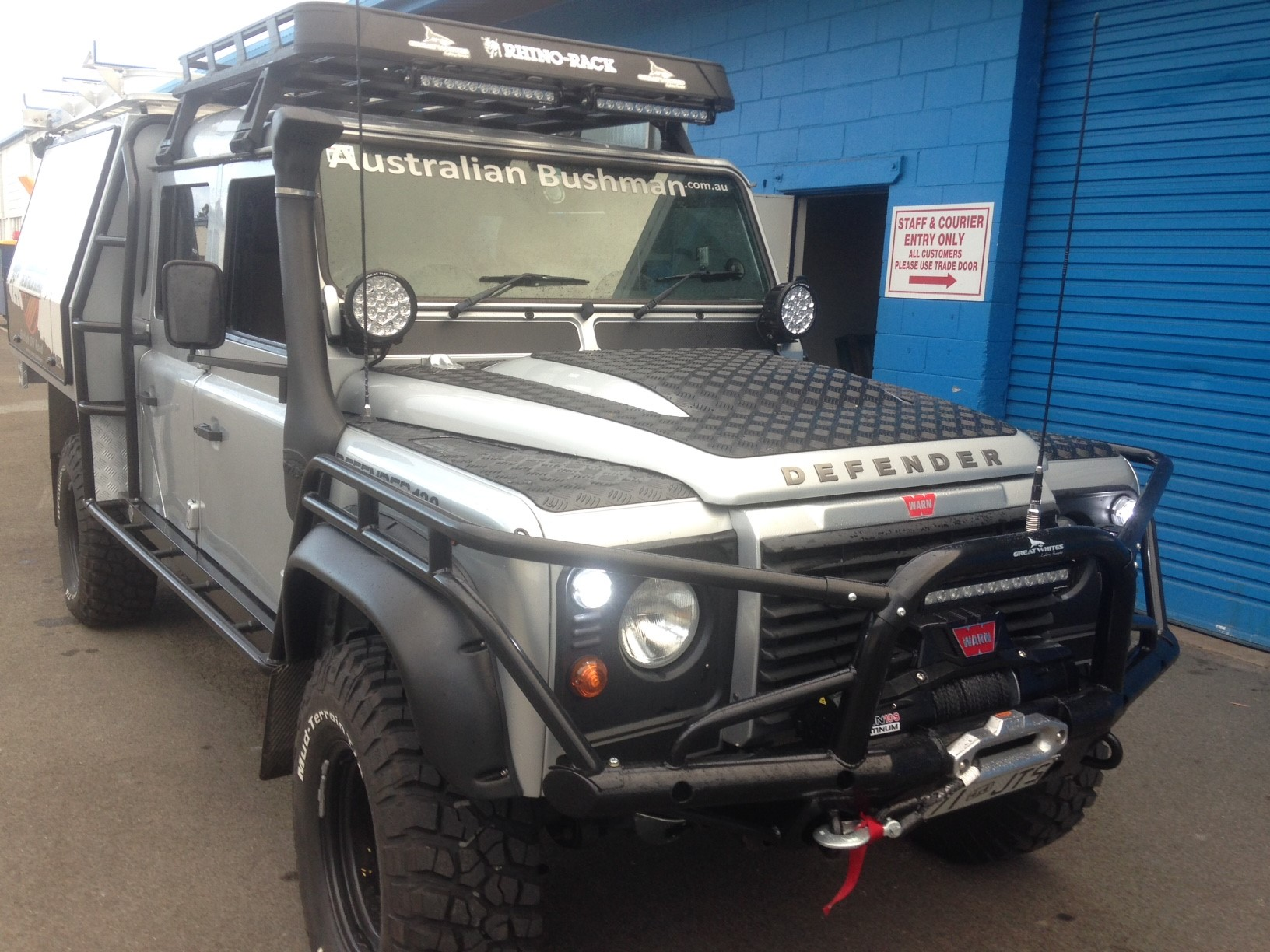 The Australian Bushman Land Rover Defender after the British Off Road treatment