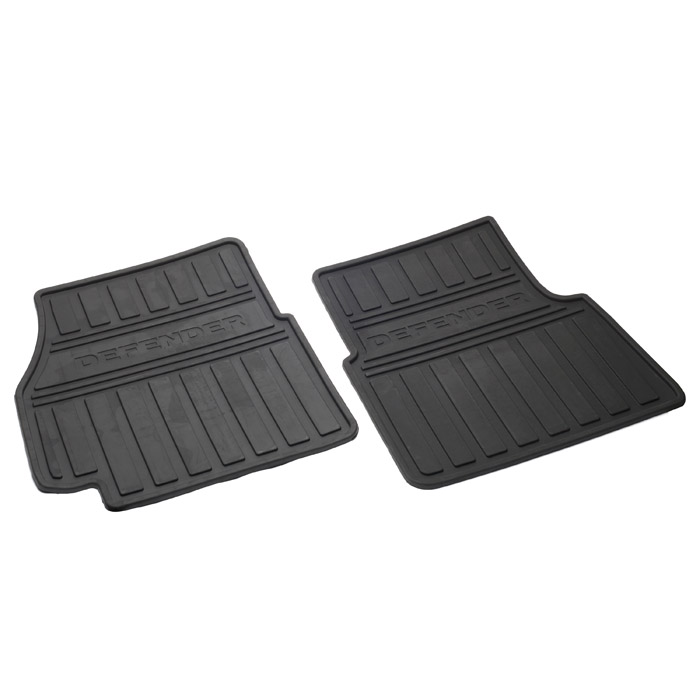 DEFENDER FRONT RUBBER MAT SET - GENUINE LAND ROVER