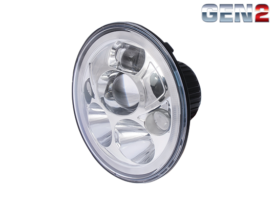 Great Whites: 7 inch LED sealed beam high/low headlight insert with park light