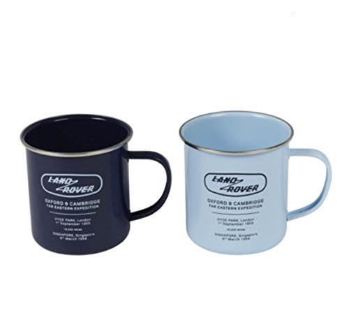 Land Rover Heritage Enamel Mugs, Set of 2